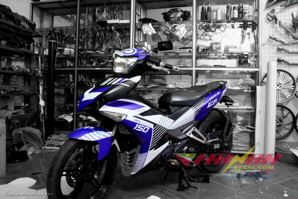 dán decal xe máy tại Vinh