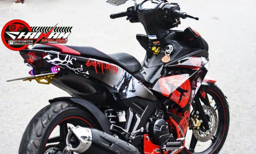 Tem Ex 150 Đen Đỏ Samurai