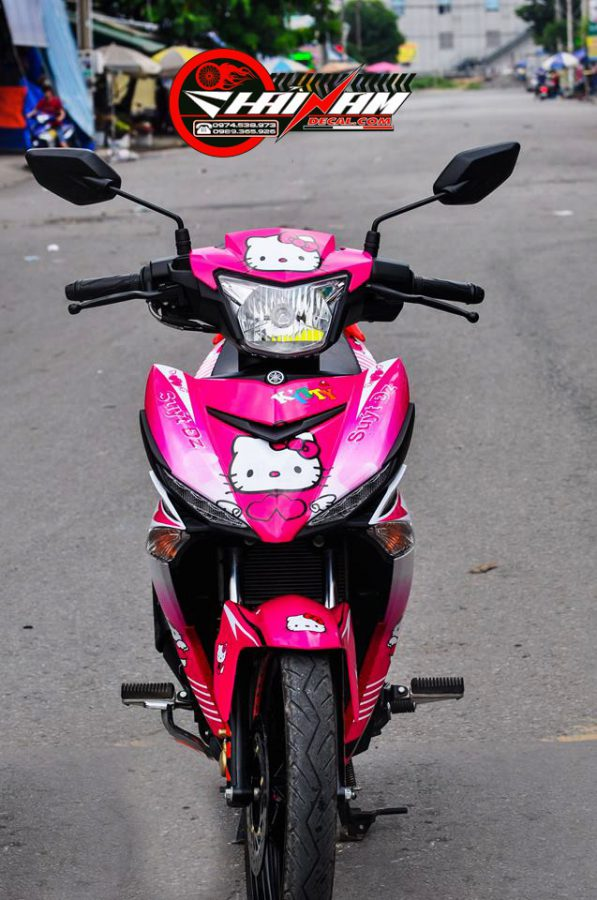 Tem Exciter 150 Hồng Hello Kitty