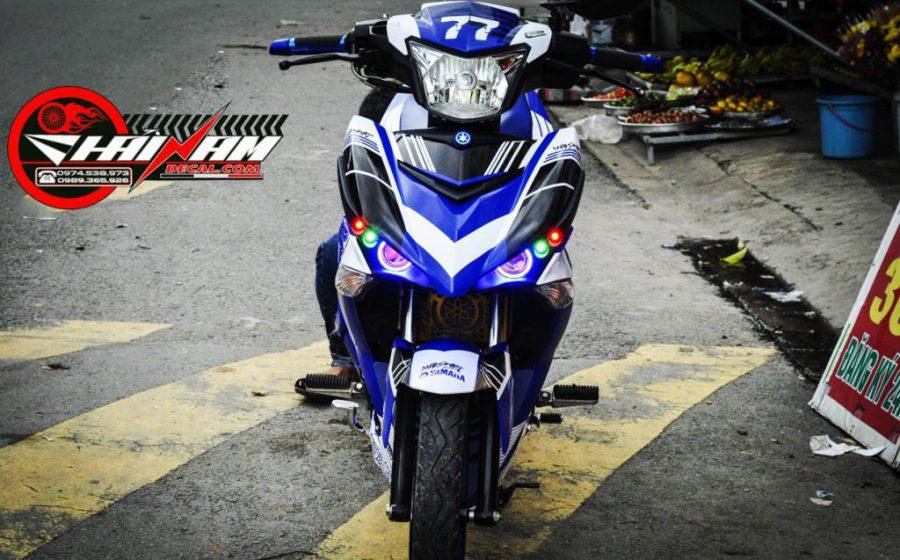 Tem EX 150 Xanh Trắng Dainese